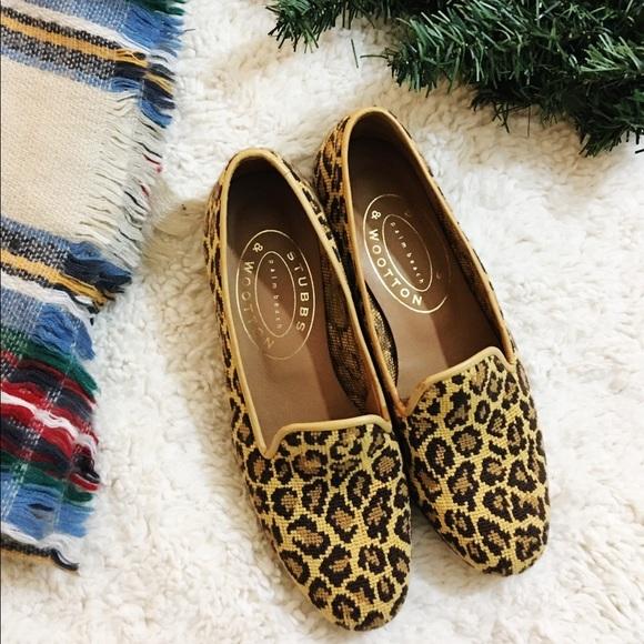 136fd5a90 STUBBS & WOOTTON Jane Leopard Knit Slipper Loafers.  M_5c0dcfe06a0bb76852084542
